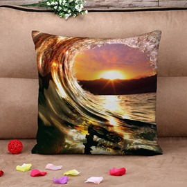 Marvelous Yellow Spindrift 3D Print Throw Pillow Case