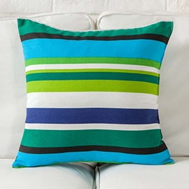 Special Design Colorful Stripes Print Throw Pillow Case