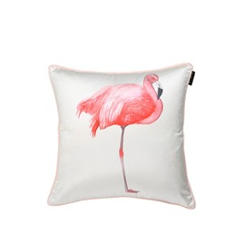 Splendid Pink Flamingo Print Decorative Throw Pillow Case
