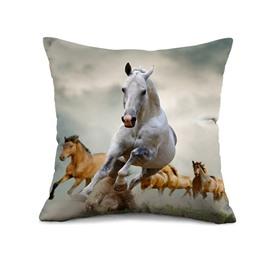 Vivid Running Horse Print Throw Pillow Case