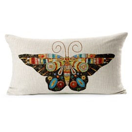 Creative Design Colorful Butterfly Print Throw Pillow Case