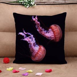 Creative Jellyfish Print Square Throw Pillow Case