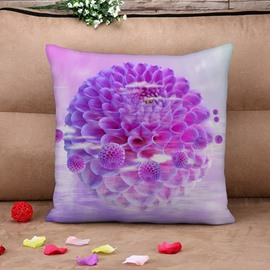 Dreamy Purple Hydrangea Print Throw Pillow Case