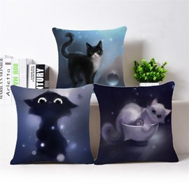 Sexy Kitty Print Square Throw Pillow Case