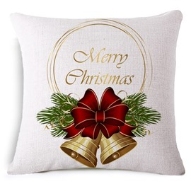 Beautiful Jingle Bell Reactive Printing Throw Pillowcase