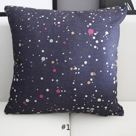 Mysterious Stars and Sky Galaxy Prints Linen Throw Pillowcases