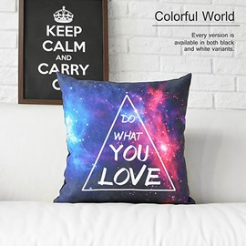 Do What You Love Colorful Clouds and Galaxy Space Prints Plush Throw Pillow cases