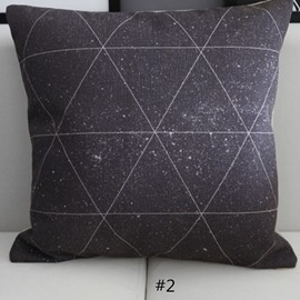 Triangle Shape Stars and Space Galaxy Pattern Throw Pillowcases