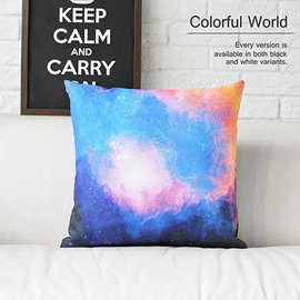 Colorful Clouds and Galaxy Space Prints Plush Throw Pillowcases