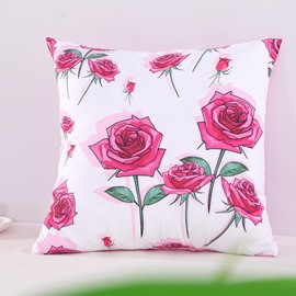 Bunches of Roses Romantic Decorative Square Polyester Throw Pillowcases
