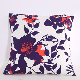 Autumn Floral Silhouette Pattern Decorative Square Polyester Throw Pillowcases