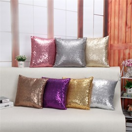 Solid Color Reversible Sequins Decorative Square Mermaid One Piece Throw Pillowcases