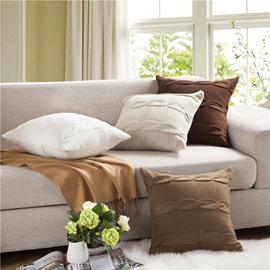 Nordic Style Knitting Braid Square Decorative Throw Pillowcase