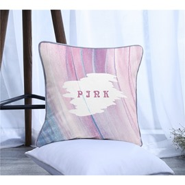 Rome Letters Pattern Polyester One Piece Decorative Square Throw Pillowcase