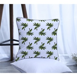 Coconut Trees Pattern Polyester One Piece Decorative Square Throw Pillowcase