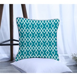 Chic Geometric Pattern Polyester One Piece Decorative Square Throw Pillowcase