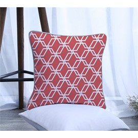 Simple Style Geometric Polyester One Piece Decorative Square Throw Pillowcase