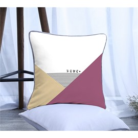 Geometric Triangle Polyester One Piece Decorative Square Throw Pillowcase