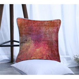 Color Painting Pattern Polyester One Piece Decorative Square Throw Pillowcase