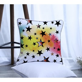 Painting Five-pointed Star Pattern Polyester One Piece Decorative Square Throw Pillowcase