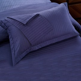 Blue Velvet Cotton Sateen Solid 2-Piece Pillow Cases