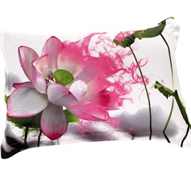 New Arrival Delicate Lotus Print Two Pieces Pillow Case