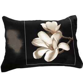 Amazing White Flower with Border Print 3D Couple Pillowcases