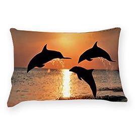3D Vigorous Dolphin Pattern 2-Piece Pillowcases