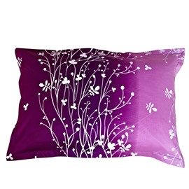 Dazzling the Flowering Vine of Crystal  One Pair Cotton Pillowcases