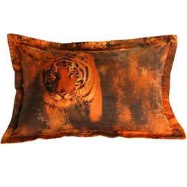 Vigorous 3D Tiger Print 2-Piece Pillow Cases