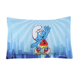 Smurf Playing Basketball One Piece Blue Bed Pillowcases