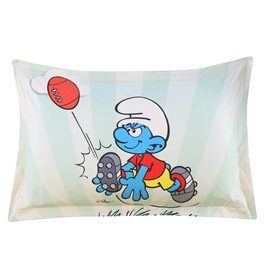 Rugby Smurf on the Grass Printed One Piece Bed Pillowcase