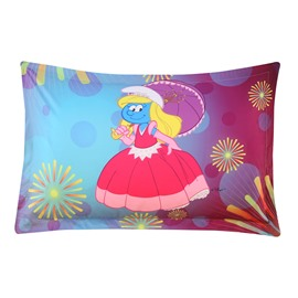 Princess Smurfette with Dress Fireworks One Piece Bed Pillowcase