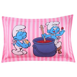 Chef Smurf Printed Stripes One Piece Bed Pillowcase