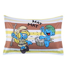 Jungle Smurf Nature Adventure Stripes Printed One Piece Bed Pillowcase