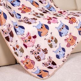 Lovely Lot Kinds of Owls Pattern Blanket