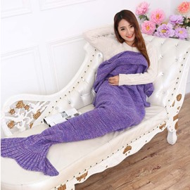 Super Warm and Soft Solid Color Mermaid Blanket