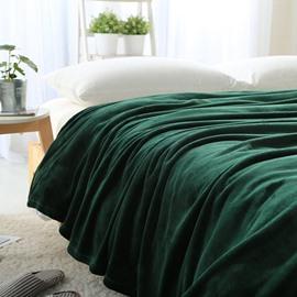 Solid Color Soft and Comfy Coral Fleece Blanket
