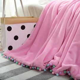 Chic Design Soft Flannel Fringe Throw Blanket