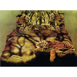 Docile Tiger Cotton Fitted Sheet