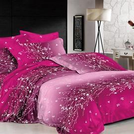 Dazzling Purple Flower Rattan Print 2-Piece Pillow Cases