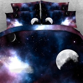 Romantic 3D Galaxy Print One Pair Pillowcases