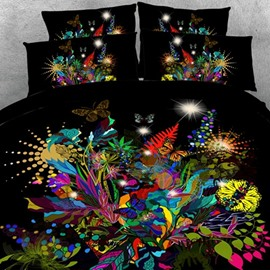 Wonderful Multi-colored Butterfly Print 2-Piece Pillow Cases