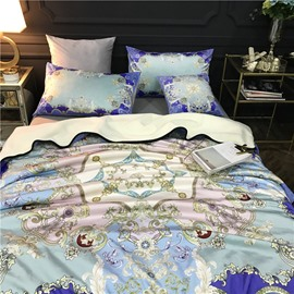 Floral Dream Catcher Pattern Blue 2-Piece Bed Pillowcases