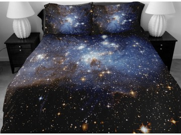 Incredible Shining Star in Darkness Print 4-Piece Duvet Cover Sets