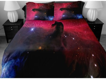 Shining Star and Vast Nebula Print 4-Piece Duvet Cover Sets