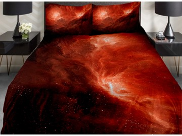 Wonders of Universe Print 4-Piece Duvet Cover Sets