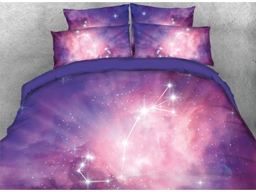 Onlwe 3D Galaxy Scorpio Printed 4-Piece Bedding Sets/Duvet Covers