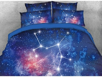 Onlwe 3D Galaxy Sagittarius Printed 4-Piece Bedding Sets/Duvet Covers