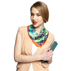 Modern Dynamic Mix Color Office Lady Beautiful Mulberry Silk Square Scarf